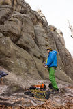 Ορειβάτης βουνών Στοκ Φωτογραφία