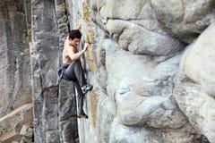 Ορειβάτης βράχου Στοκ Φωτογραφία