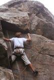Ορειβάτης στο βράχο Στοκ Εικόνα