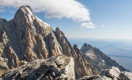 Ορειβάτης Teton στοκ εικόνες