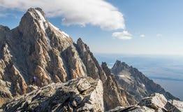 Ορειβάτης Teton Στοκ φωτογραφία με δικαίωμα ελεύθερης χρήσης