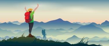 ορειβασία ελεύθερη απεικόνιση δικαιώματος