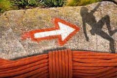 Ορειβασία Concep Στοκ εικόνα με δικαίωμα ελεύθερης χρήσης