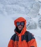 ορειβασία Portret του αλπινιστή Στοκ φωτογραφία με δικαίωμα ελεύθερης χρήσης