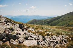 Ορεινές περιοχές Karpathian Στοκ φωτογραφία με δικαίωμα ελεύθερης χρήσης