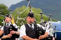 ορεινή περιοχή pipeband Σκωτία πα Στοκ εικόνα με δικαίωμα ελεύθερης χρήσης