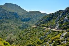 Ορεινός δρόμος στη χερσόνησο Bozburun στην Τουρκία στοκ εικόνα με δικαίωμα ελεύθερης χρήσης