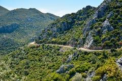 Ορεινός δρόμος στη χερσόνησο Bozburun στην Τουρκία στοκ φωτογραφίες με δικαίωμα ελεύθερης χρήσης