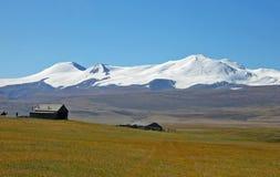 Ορεινός όγκος βουνών tabyn-Bogdo-Ola, οροπέδιο Ukok, βουνά Altai, Σιβηρία, Ρωσία Στοκ Φωτογραφίες