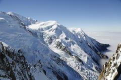 Ορεινός όγκος της Mont Blanc στο γαλλικό Apls Στοκ Εικόνες