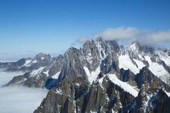 Ορεινός όγκος της Mont Blanc στο γαλλικό Apls Στοκ Εικόνα