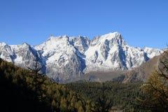 Ορεινός όγκος της Mont Blanc το φθινόπωρο Στοκ Εικόνες