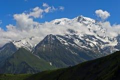 Ορεινός όγκος της Mont Blanc, στοκ φωτογραφίες