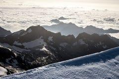 Ορεινός όγκος της Rosa Monte - στην κορυφή του Piramide Vincent στοκ φωτογραφίες με δικαίωμα ελεύθερης χρήσης