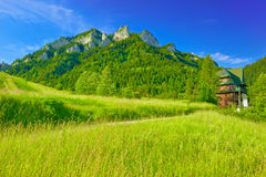 Ορεινός όγκος τριών κορωνών στα βουνά Pieniny Στοκ Εικόνες