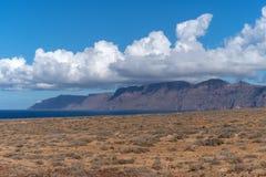 Ορεινός όγκος Famara, Lanzarote, Ισπανία στοκ εικόνα με δικαίωμα ελεύθερης χρήσης