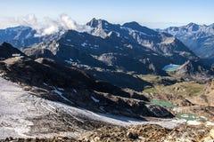 ορεινός όγκος monte Rosa στοκ εικόνες