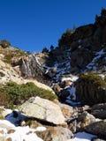 Ορεινό και χιονώδες τοπίο στη Ανδόρα στοκ εικόνα με δικαίωμα ελεύθερης χρήσης