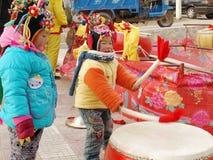 ορεινό χωριό παιδιών Στοκ Εικόνες