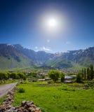 Ορεινό χωριό πανοραμικό καλοκαίρι το&pi Στοκ Φωτογραφίες
