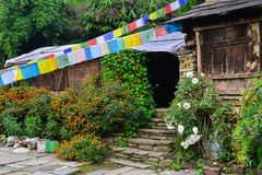 Ορεινό χωριό σε Grandruk, Νεπάλ Στοκ Εικόνες