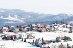 Ορεινό χωριό στην Πολωνία Στοκ Φωτογραφίες