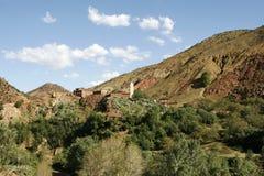 ορεινό χωριό του Μαρόκου &al Στοκ εικόνες με δικαίωμα ελεύθερης χρήσης