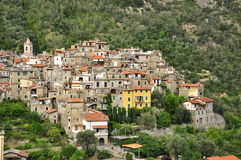 Ορεινό χωριό Airole, Λιγυρία, Ιταλία στοκ φωτογραφία