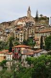 Ορεινό χωριό Apricale, Λιγυρία, Ιταλία Στοκ Εικόνα