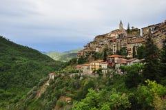 Ορεινό χωριό Apricale, Λιγυρία, Ιταλία Στοκ Φωτογραφίες