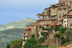 Ορεινό χωριό Apricale, Λιγυρία, Ιταλία Στοκ Φωτογραφία