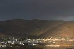 Ορεινό χωριό arrecife Κανάρια νησιά Ισπανία Στοκ φωτογραφίες με δικαίωμα ελεύθερης χρήσης