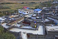 Ορεινό χωριό Marpha στα Ιμαλάια, Νεπάλ. Στοκ Φωτογραφία