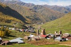 Ορεινό χωριό Ushguli στοκ φωτογραφία