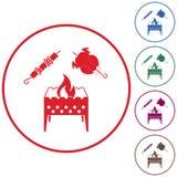 Ορειχαλκουργός, kebab και κοτόπουλο Στοκ φωτογραφίες με δικαίωμα ελεύθερης χρήσης