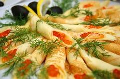 ορεκτικά εύγευστα τρόφιμα Στοκ Εικόνα