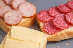 Ορεκτικά σάντουιτς για ένα πρόχειρο φαγητό Στοκ Εικόνες