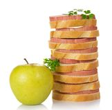 Ορεκτικά σάντουιτς με το λουκάνικο Στοκ Φωτογραφίες