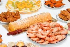 ορεκτικά τρόφιμα μερικοί Στοκ Εικόνα