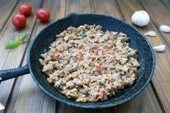 Ορεκτικός τηγανισμένος κιμάς στοκ εικόνες