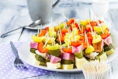 Ορεκτικό οδοντογλυφιδών τροφίμων δάχτυλων Στοκ φωτογραφία με δικαίωμα ελεύθερης χρήσης