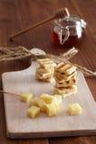 Ορεκτικό τυριών και μελιού Στοκ Φωτογραφία
