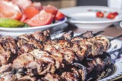 Ορεκτικό shish kebab Στοκ φωτογραφία με δικαίωμα ελεύθερης χρήσης