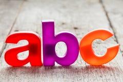 Ορθογραφία ABC από τις πλαστικές επιστολές Στοκ Εικόνα