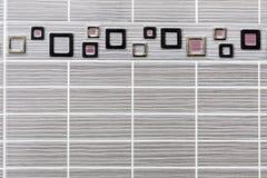 Ορθογώνια κεραμίδια με το πλαίσιο Στοκ Εικόνες