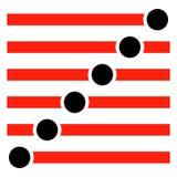 Ορθογώνια κουμπιά, διακόπτες που τίθενται στα διαφορετικά κράτη Ολισθαίνων ρυθμιστής, α ελεύθερη απεικόνιση δικαιώματος