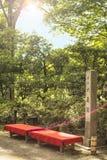 Ορθογώνια πέτρα που πιστοποιεί τη θέση του ιαπωνικού εθνικού SCE Στοκ Φωτογραφία