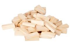 ορθογώνια στοίβα ομάδων δεδομένων ξύλινη Στοκ εικόνα με δικαίωμα ελεύθερης χρήσης