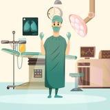 Ορθογώνια σύνθεση χειρουργικών επεμβάσεων καρκίνου ήττας απεικόνιση αποθεμάτων