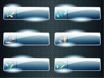ορθογώνιος διαφανής γυαλιού κουμπιών ελεύθερη απεικόνιση δικαιώματος